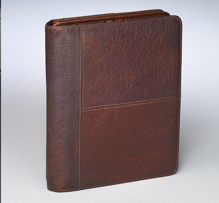 GTM 03 USA Bison Leather CCW Ipad Case Brown