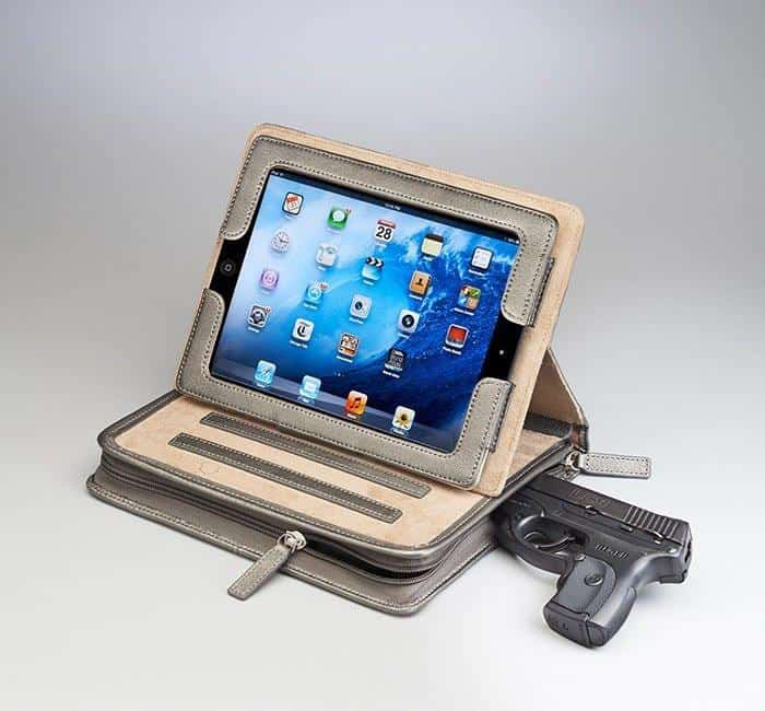 GTM-08 Leather CCW Ipad Case with Gun