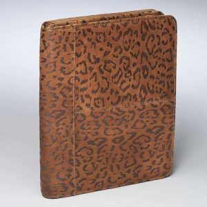 Embossed Brushed Leather Leopard Ipad Case GTM-09DB