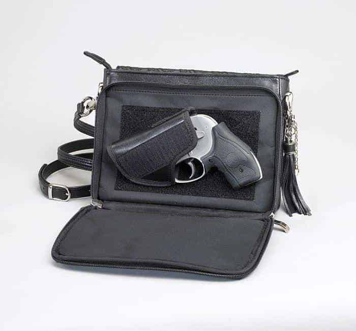 GTM-10 Embroidered Lambskin Open with Gun