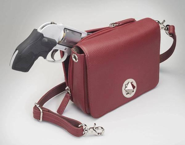 GTM-15 Cross Body Organizer Red with Gun