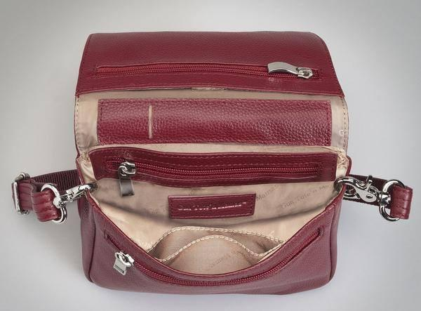 GTM-15 Cross Body Organizer Red Inside