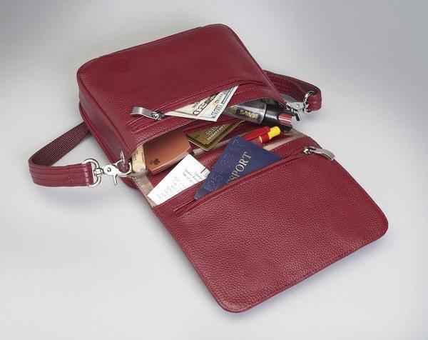 GTM-15 Cross Body Organizer Red with Props
