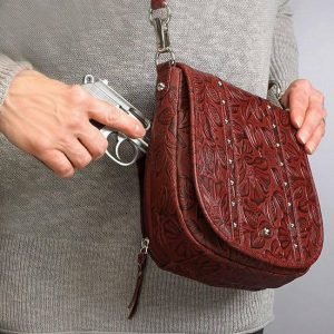 GTM 16 Simple Bling Tooled Leather Cherry Action With Gun