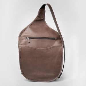 GTM 189 Concealed Carry Shoulder Saddlebag Mocha Brown Back