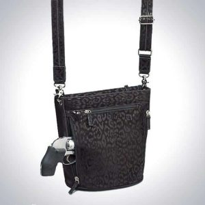 Bucket Tote -Debossed Sueded Leather