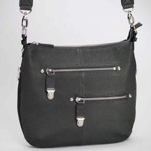 Chrome Zip Concealed Carry Handbag – 2 Colors – Gun Tote'n Mamas