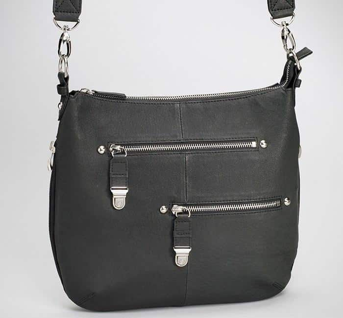 GTM-23 BK Chrome Zip Handbag