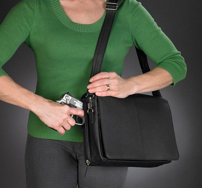 GTM-26 Flap Over Messenger Black Draw Gun