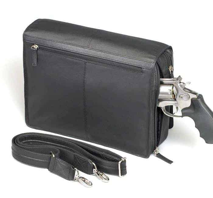 GTM-26 Flap Over Messenger Black Back with Gun