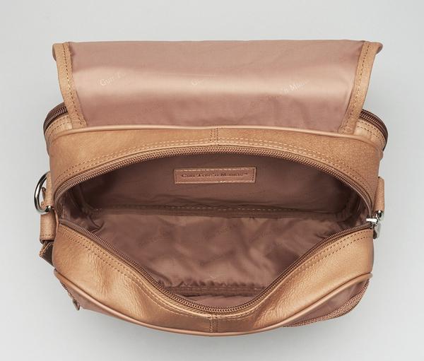 GTM-28 Classic Boston Bag Tan Open Empty