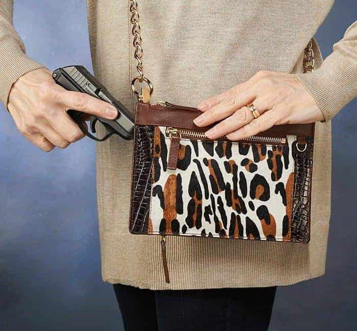 GTM-29 Leopard Print Chained Wallet Action