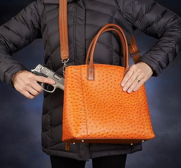 GTM-51 Town Tote Orange Action