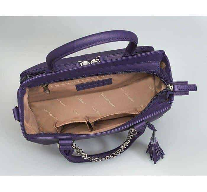 GTM-52 Park Avenue Tote Purple Open