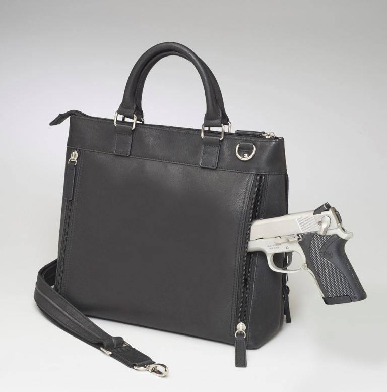 GTM 57 Fringe Tote Back With Gun