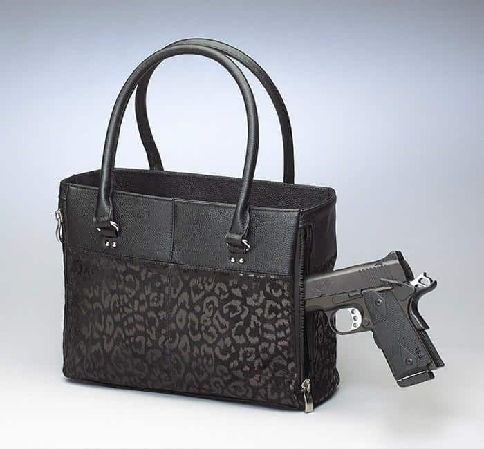 GTM-62 Traditional Open Top Tote Black with Gun