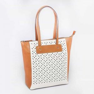 American Cowhide Vertical Shopper