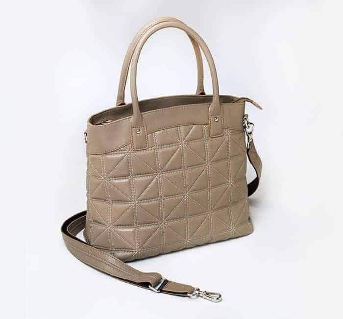 GTM-68 Taupe Embroidered Town Tote