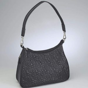 Embroidered Lambskin Basic Hobo
