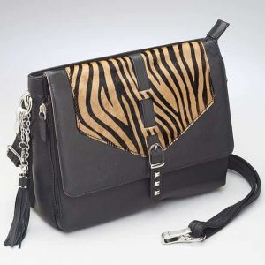 Zebra Print Shoulder Clutch