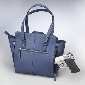 GTM 77 Blue Studded Tote Back With Gun