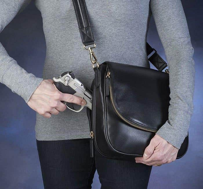 GTM-88 Drop-Front Handbag Action with Gun