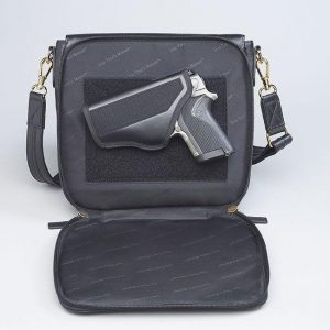 GTM 88 Drop Front Handbag Open With Gun