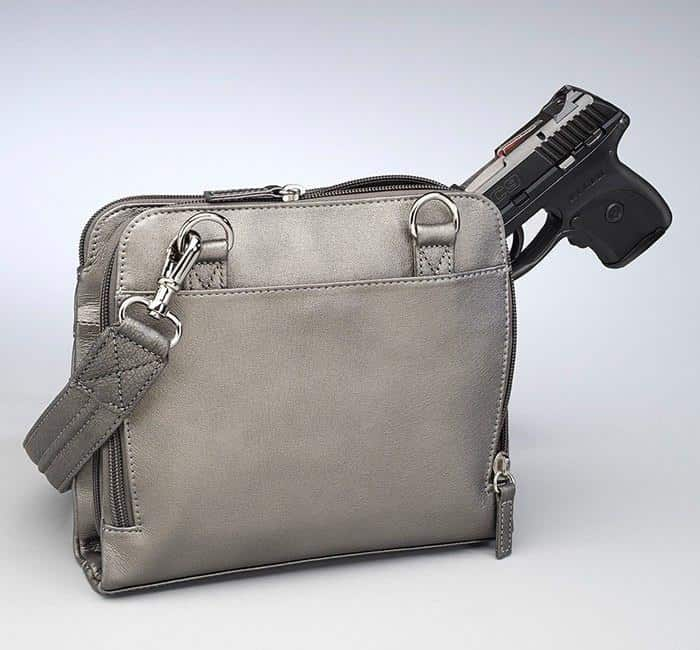 GTM 92 X Body Organizer Gun Metal Back With Gun