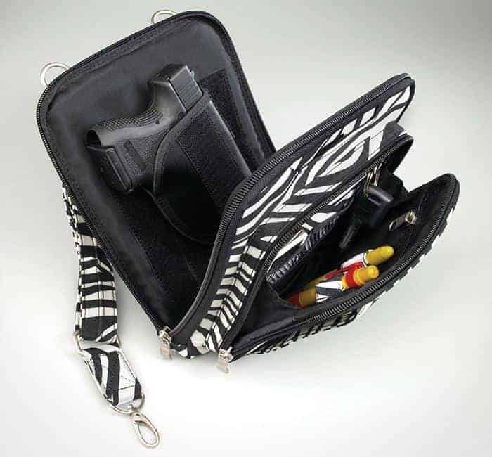 GTM-99 Concealed Carry Raven Shoulder Pouch Zebra Open