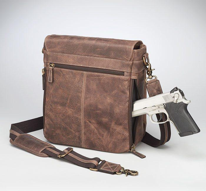 GTM/CZY-02 Vintage Messenger Bag with Gun