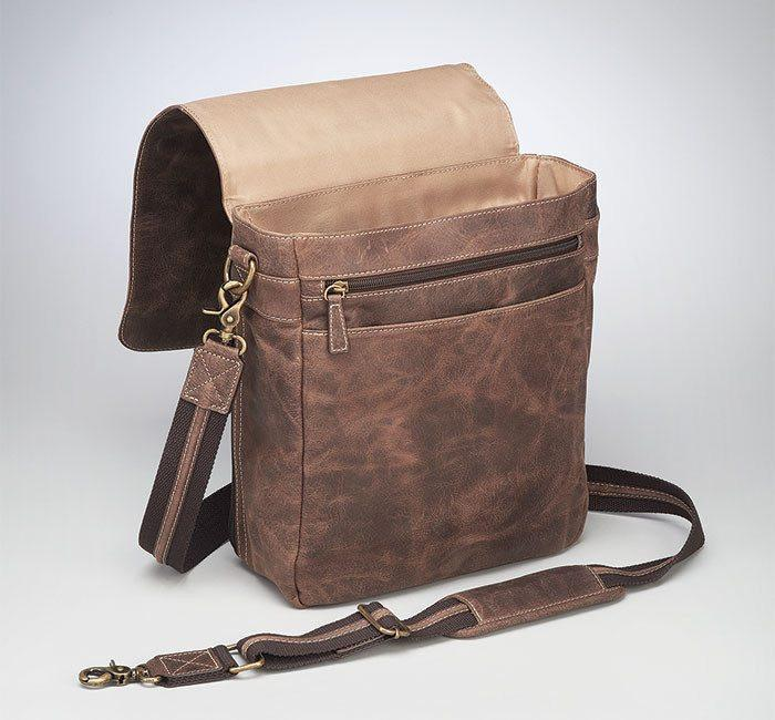 GTM/CZY-02 Vintage Messenger Bag Flap Up