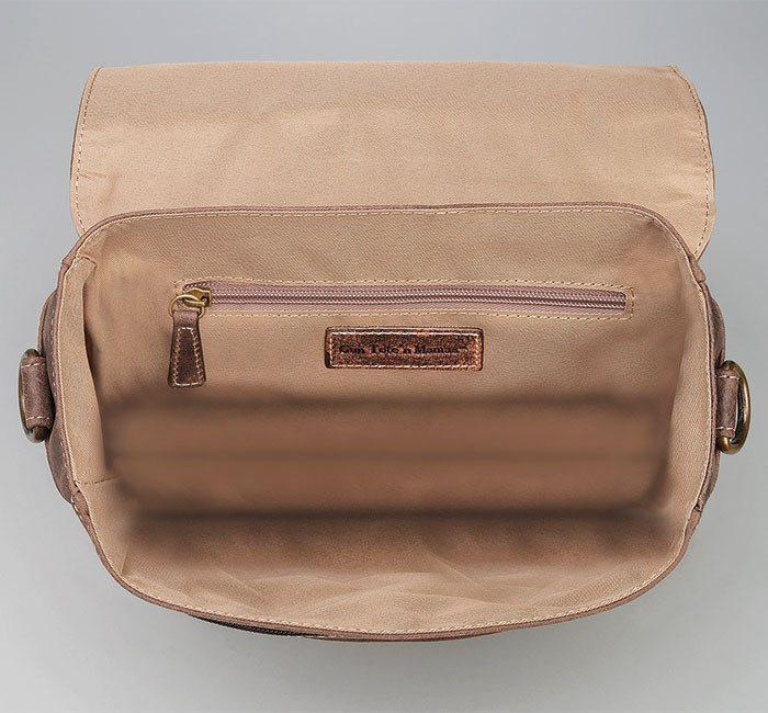 GTM/CZY-02 Vintage Messenger Bag Inside Empty