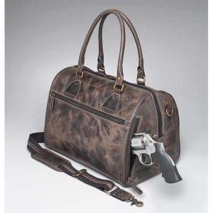 GTM/CZY 03 CCW Leather Duffel With Gun