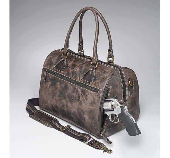 GTM/CZY-03 CCW Leather Duffel with Gun