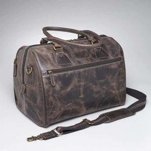 Travel Size Leather Duffel