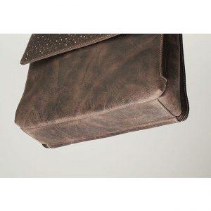 GTM/CZY 22 Distressed Buffalo Leather Shoulder Clutch Bottom