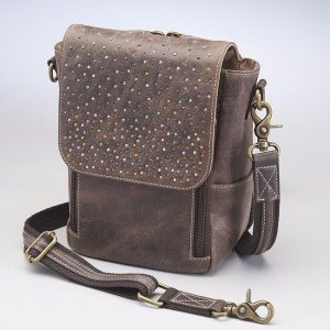 Distressed Leather Cross Body Satchel
