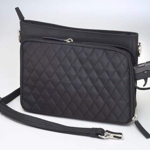 GTM/QMF 22 Quilted Shoulder Clutch Back With Gun