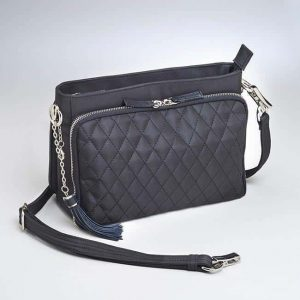 Quilted Microfiber Shoulder Clutch – Best Seller! – GTM-QMF/22-BK