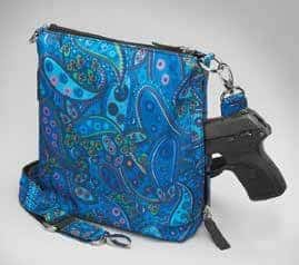 GTM-MF/20 Paisley Blue X-Body Flat Sac Back with Gun