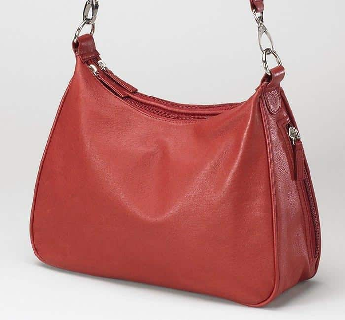 GTM-70 Concealed Carry Basic Hobo Handbag Red