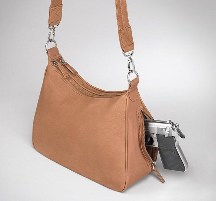 GTM-70 Concealed Carry Basic Hobo Handbag Tan