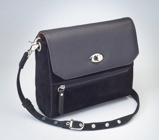 GTM-87 Suede Hand Clutch Black