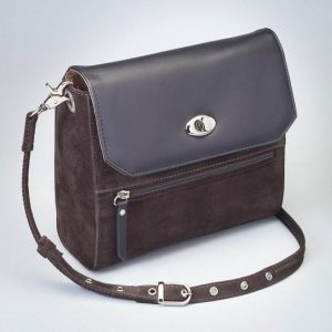 GTM 87 Suede Hand Clutch Brown