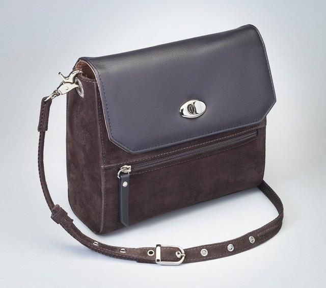 GTM-87 Suede Hand Clutch Brown