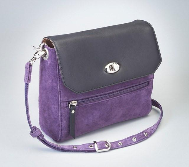 GTM-87 Suede Hand Clutch Purple