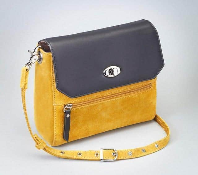 GTM-87 Suede Hand Clutch Yellow