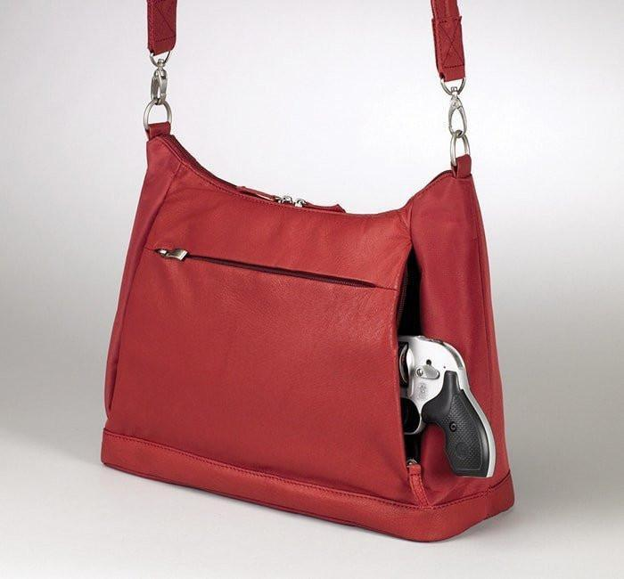 GTM-90 concealed Carry Large Hobo Sac Red