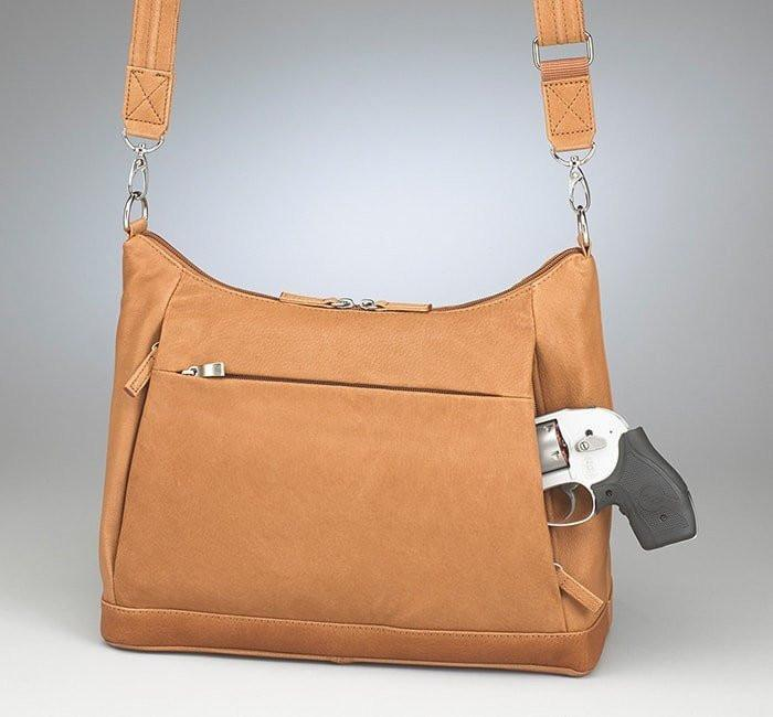 GTM-90 concealed Carry Large Hobo Sac Tan