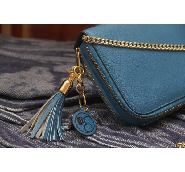 Gold Compact Carrie Chain Blue